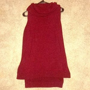 Tops - red tank / sweater material
